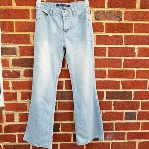 Calvin Klein Light Denim Wide Leg Jeans 16